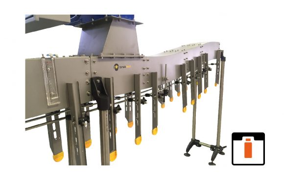 Air conveyors for moving PET bottles