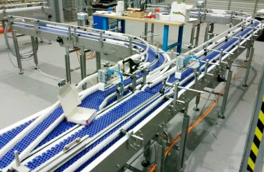 Modular Belt Conveyor for secondary packaging in end of the production line