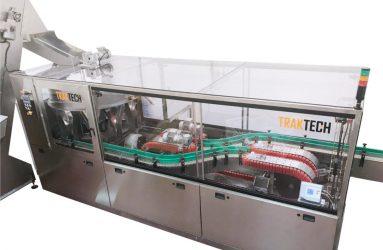 Maquina posicionadora rotativa y enjuagadora de botellas en monobloque | Traktech SL