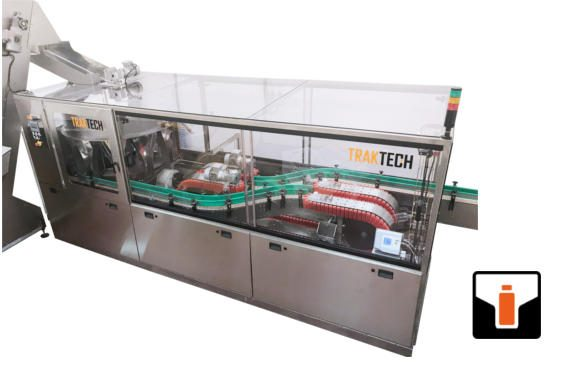 Rotrak Monoblock Unscrambler and Rinser for empty bottles
