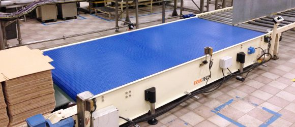 Modular ball belt conveyors side view