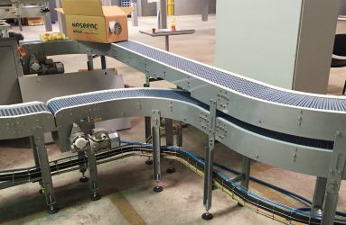 Conveyor belt for end of line packaging