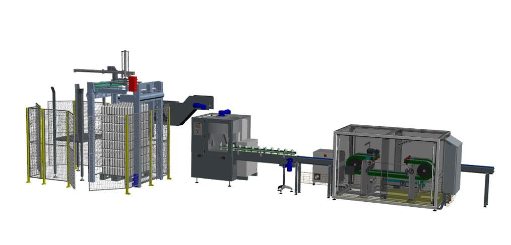 Un resultado ejemplo del Configurador de Soluciones para la manipulación de botellas vacías creado por Traktech SL