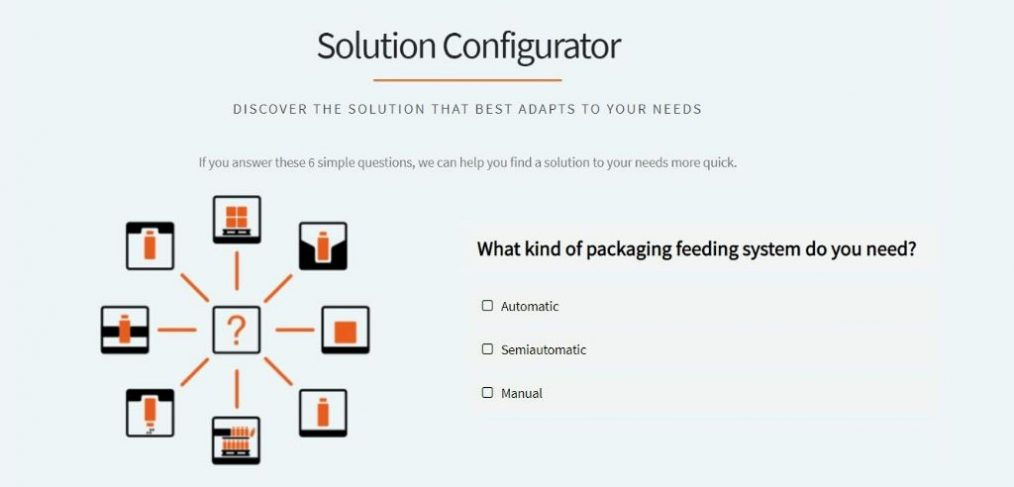 Solution Configurator Home Page by Traktech